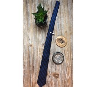 Express blue and black tie with diagonal stripes